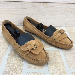 J. Crew Kingston Suede Leather Driving Loafers 8